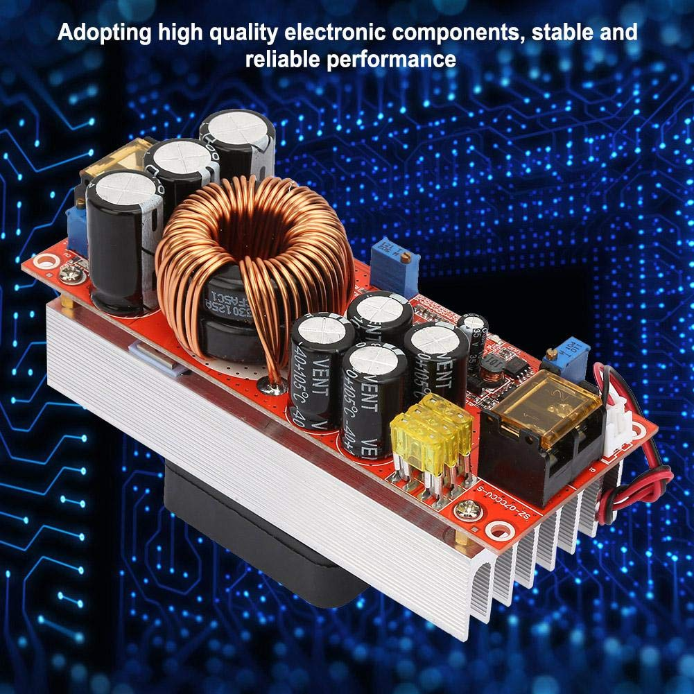 1500W 30A DC-DC Boost Converter Step Up Power Module Constant Current Adjustable Power Voltage Widely Used for High Power Solar Street Lamp Driving
