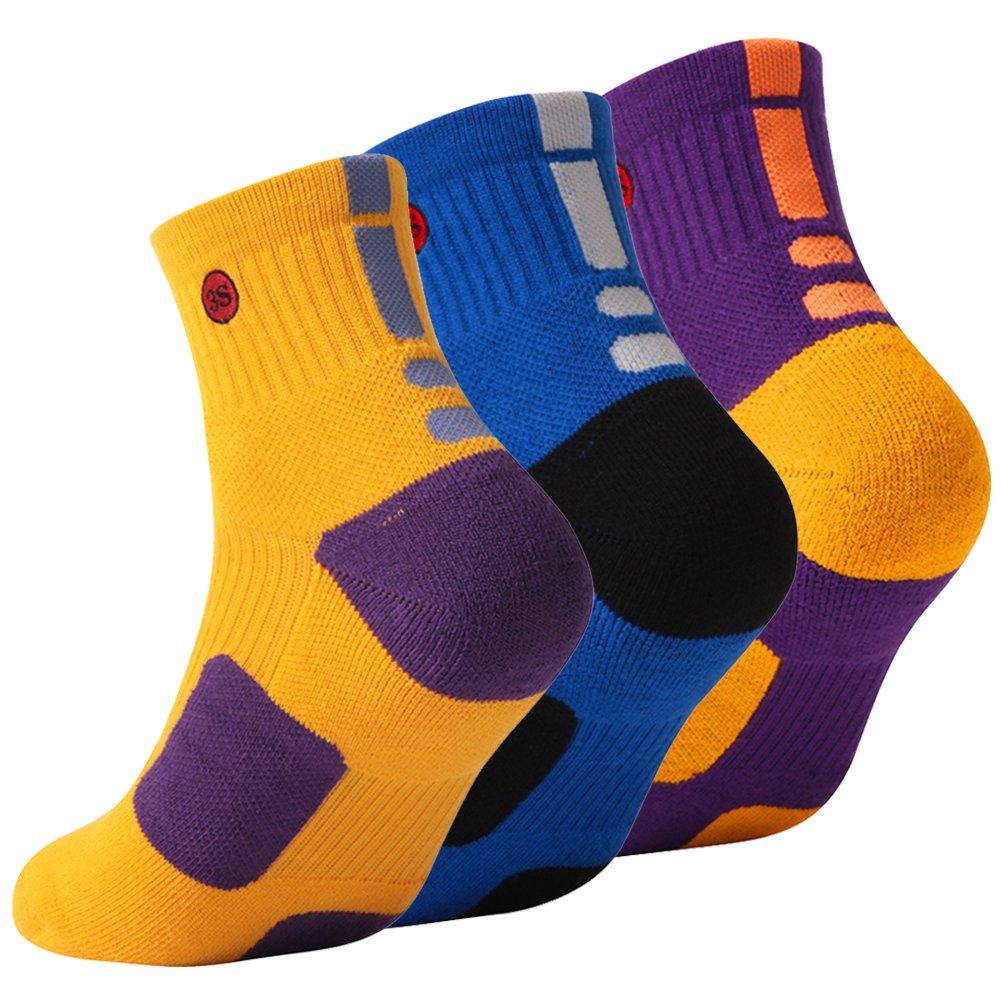 3street SOCKSHOSIERY メンズ B078MPK5R9 Large|9#2 Pairs Yellow Blue Purple 9#2 Pairs Yellow Blue Purple Large