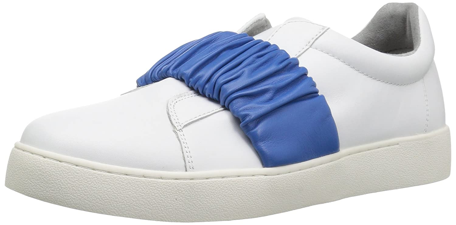 Nine West Women's Pindiviah Leather Sneaker B072M7RY4M 6 B(M) US|White/Blue Leather