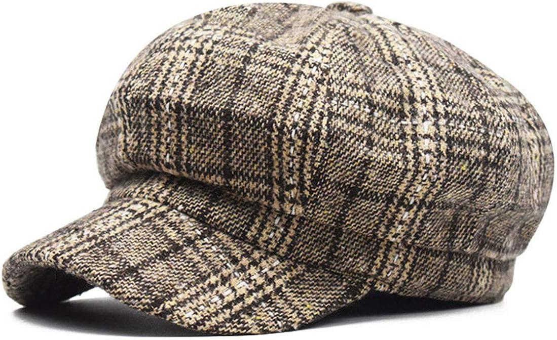 Tweed Plaid Newsboy-Cap...