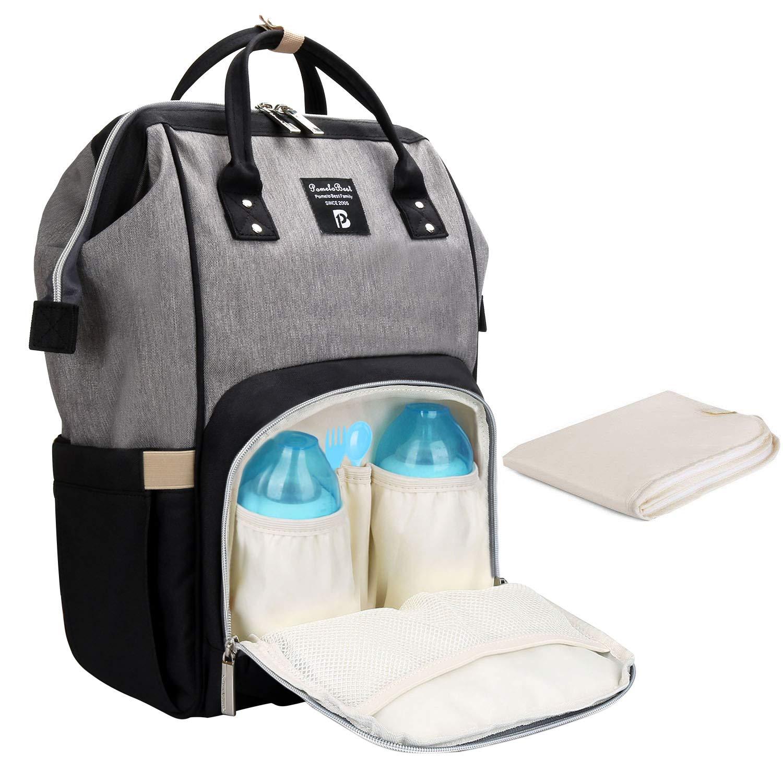 d8a1d9e24bbd6 Baby Wickelrucksack Wickeltasche mit Wickelunterlage Multifunktional Oxford  Große Kapazität Babyrucksack Kein Formaldehyd Reiserucksack für Unterwegs (