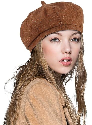Merryme Boinas Mujer Francesa Lana Vintage, Sombreros de Mujer Fiesta Invierno Otoño Primavera