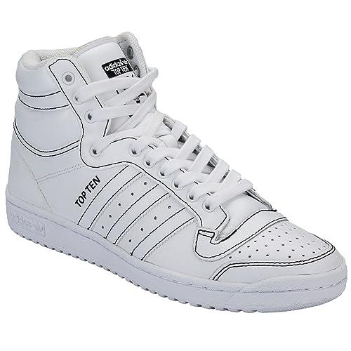 adidas Mens Originals Mens Top Ten Hi Trainers in White - UK 6