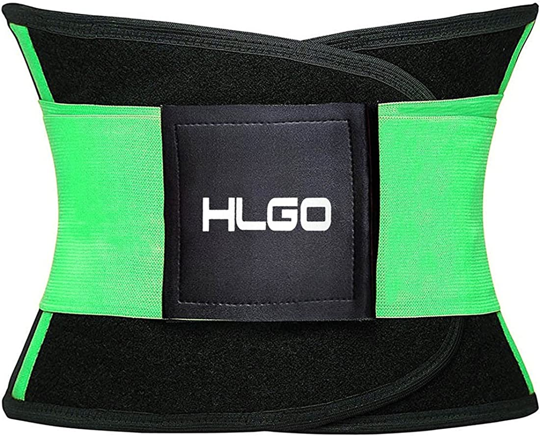 HLGO Waist Cincher Trainer Body Adjustable Elastic Exercise Waist Belt 5 Corlor,4 Size for Choice