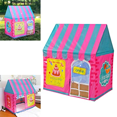 WE&ZHE Kid Play Tent Children Playhouse Indoor Outdoor Toy Play House for Boy Girl 2 3 4 5 Years Old Perfect for Birthday Gift: Home & Kitchen