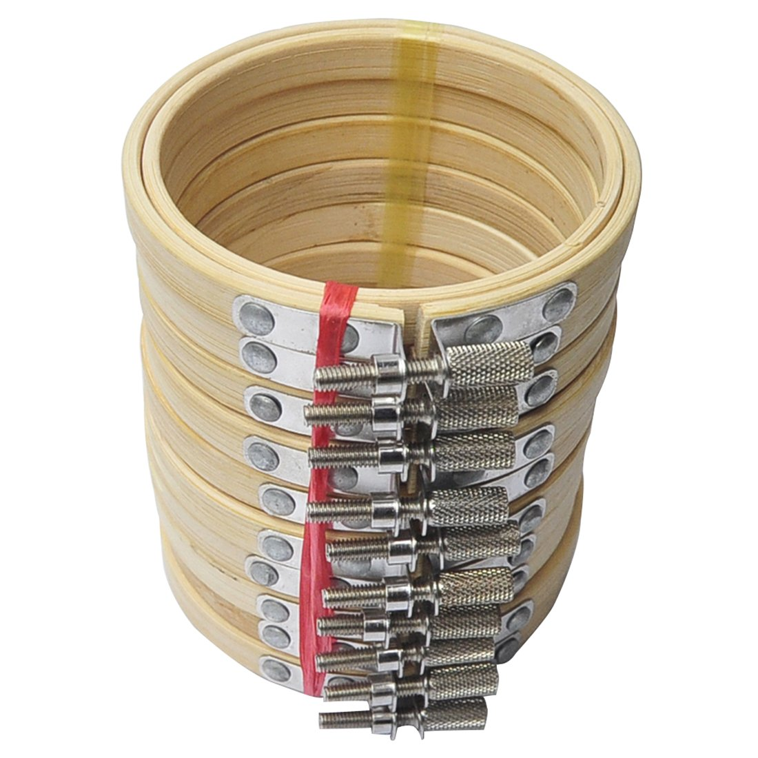 10/piezas 5/cm bordado aro de bamb/ú c/írculo de punto de cruz anillo aro