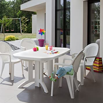 GROSFILLEX - Table de jardin Vega 165x100: Amazon.fr: Jardin