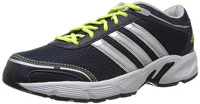 c3ed2dee31387 Adidas Men's Eyota M Dark Navy, Metallic Silver and White Mesh Running Shoes  - 6