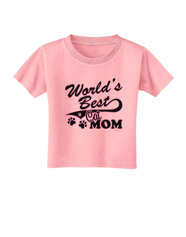 TooLoud Worlds Best Cat Mom Toddler T-Shirt