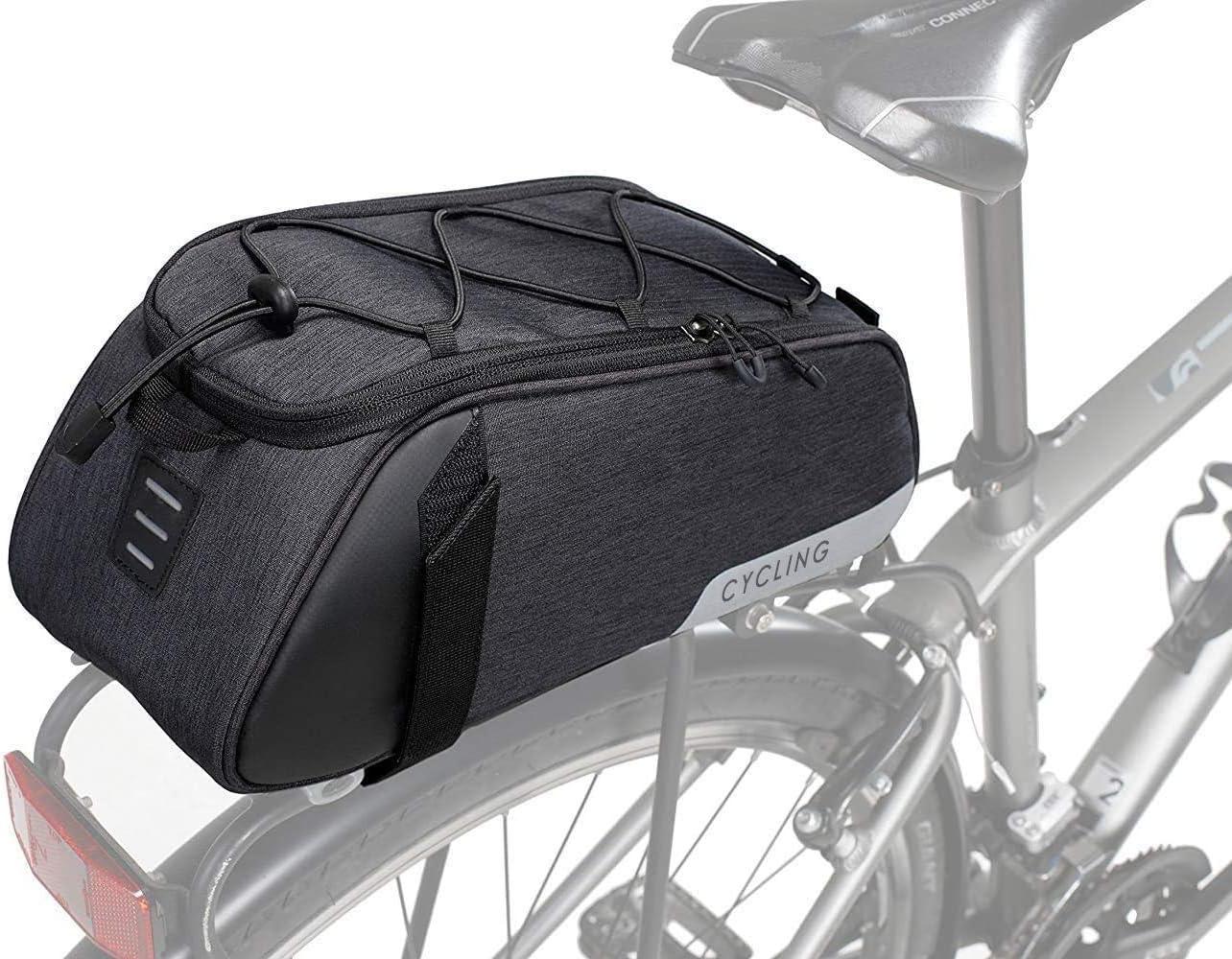 8L Bike Rear Seat Bag Bicycle Backseat Cycling Pannier Rack Trunk Storage Bag
