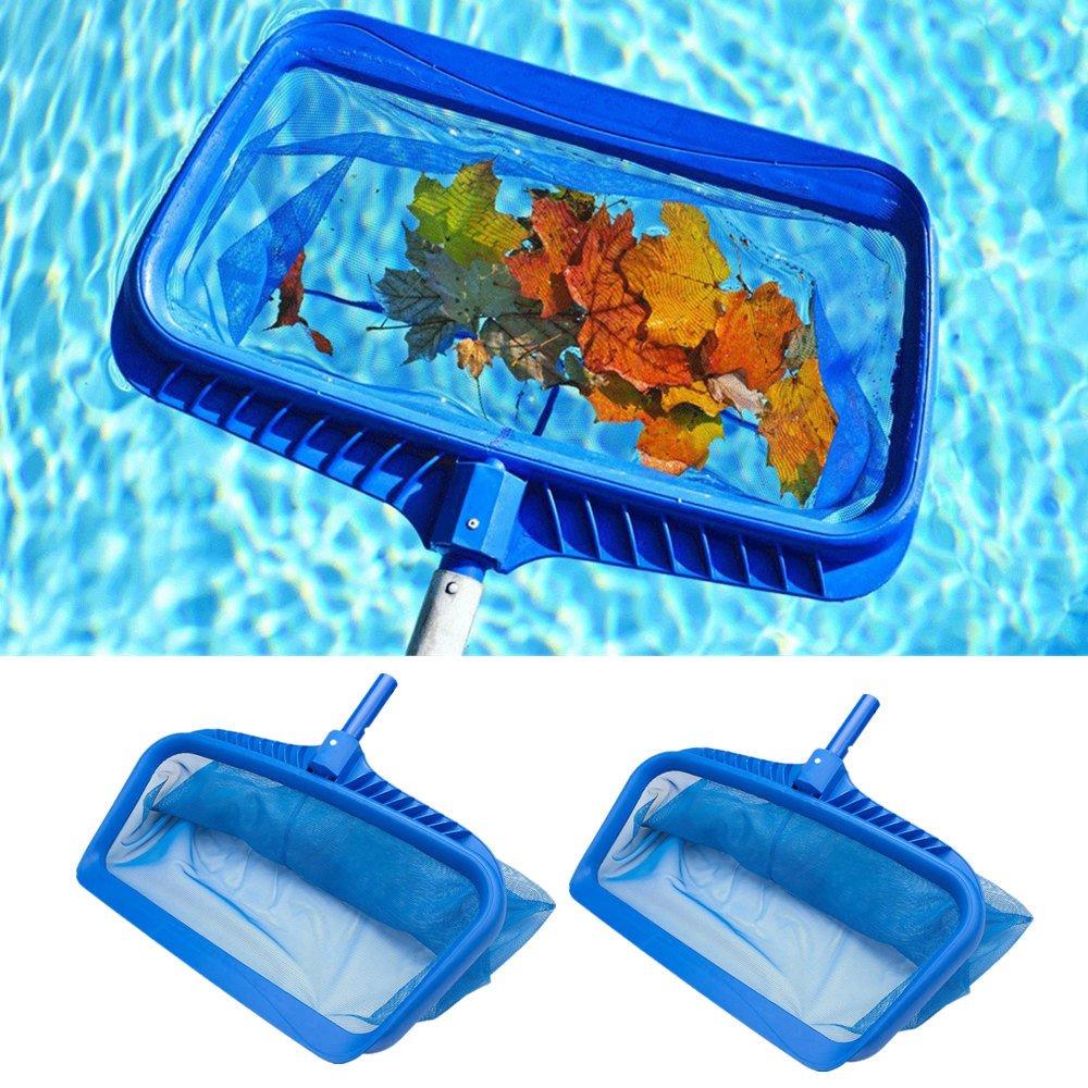 2PCS/set Heavy Duty Swimming Pool Leaf Skimmer Net with Handle Rake Leaf Mesh Skimmer Cleaner Swimming Pool Spa Tool Gessppo
