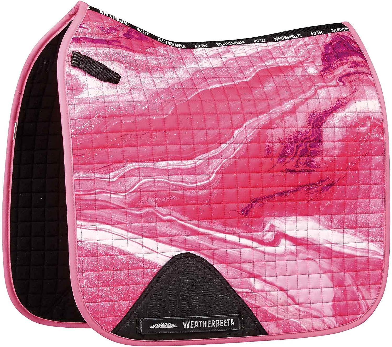 Weatherbeeta Prime Marble Doma - Almohadilla para silla de montar - Pink Swirl Marble Print