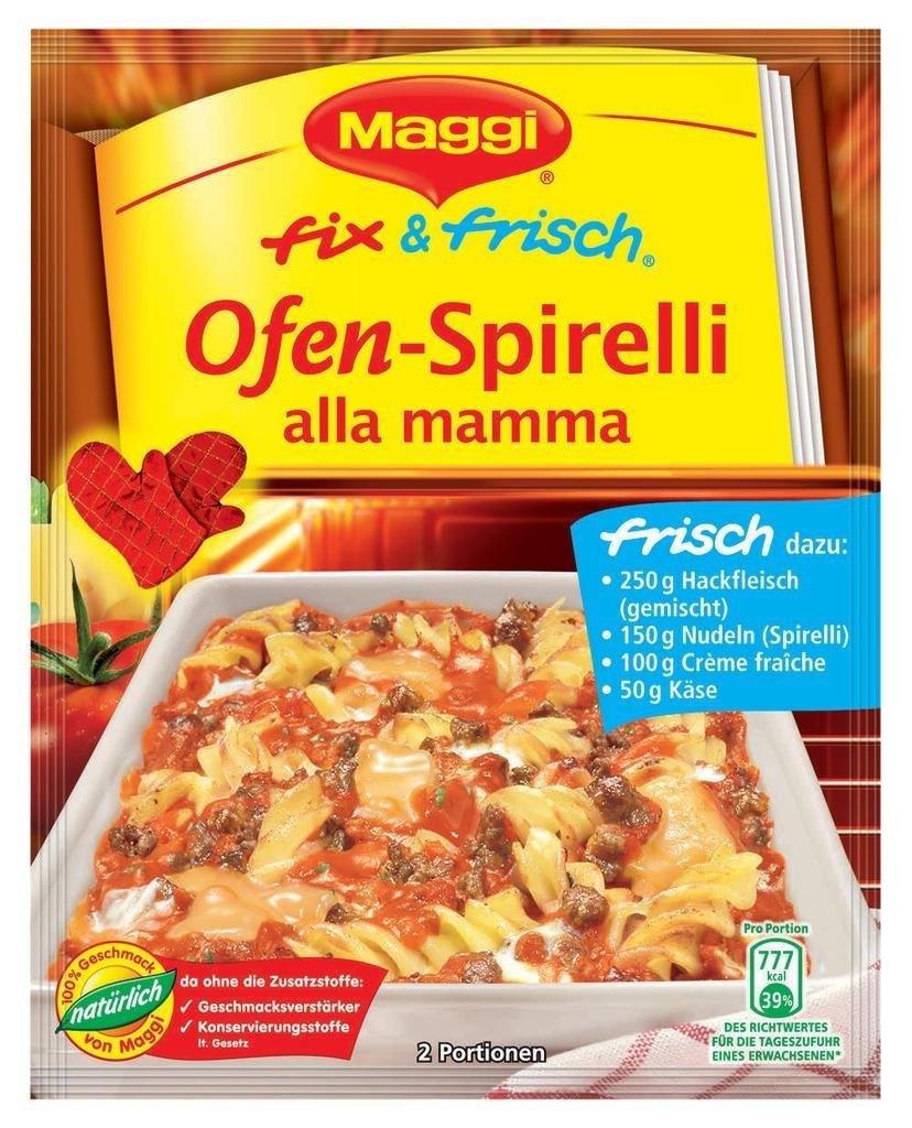 Amazon.com : Maggi fix & frisch Ofen-Spirelli alla mamma : Grocery ... | {Maggi fix 27}