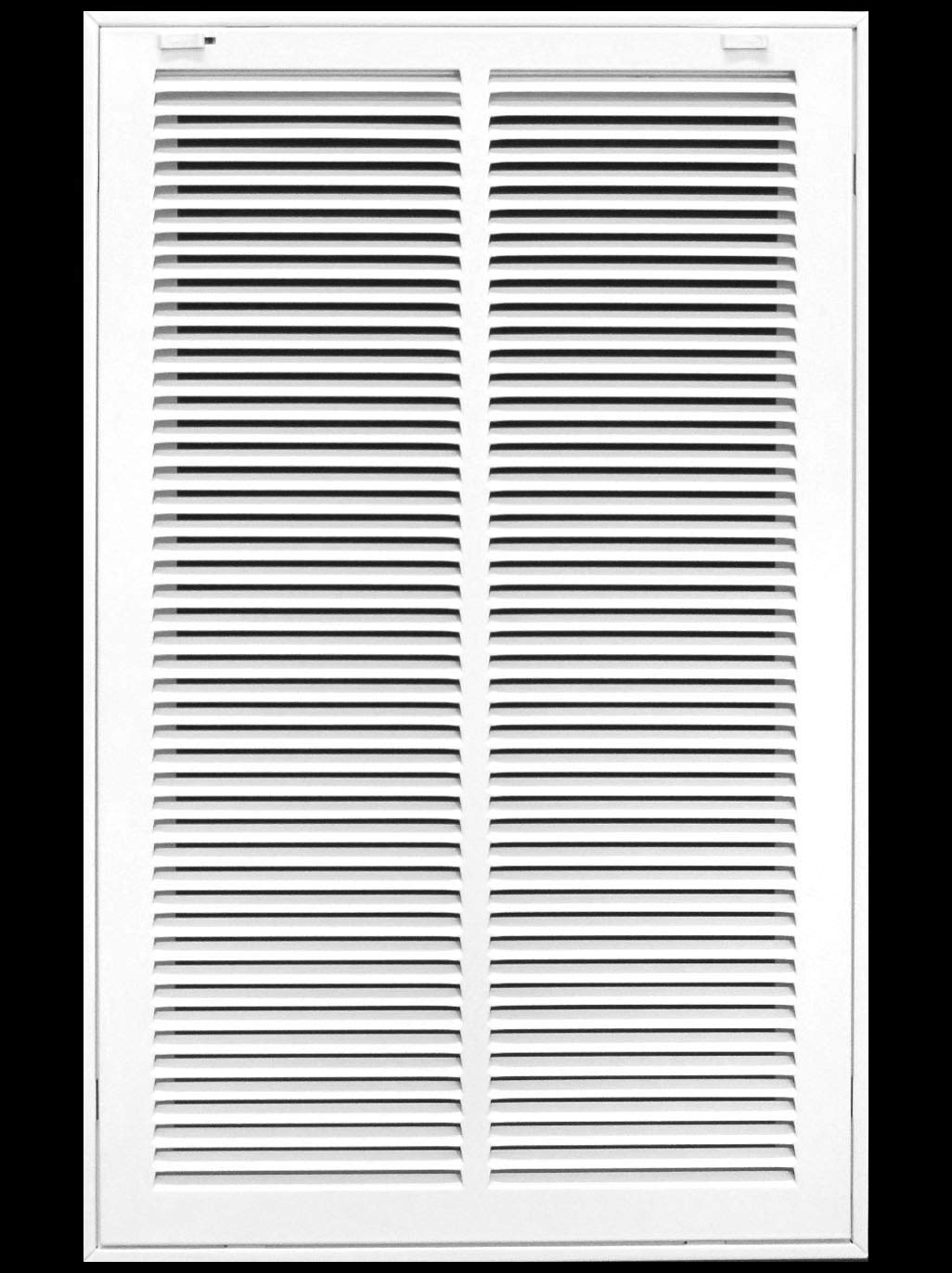 "14"" X 24 Steel Return Air Filter Grille for 1"" Filter - Removable Face/Door - HVAC Duct Cover - Flat Stamped Face - White [Outer Dimensions: 16.5 X 25.75]"
