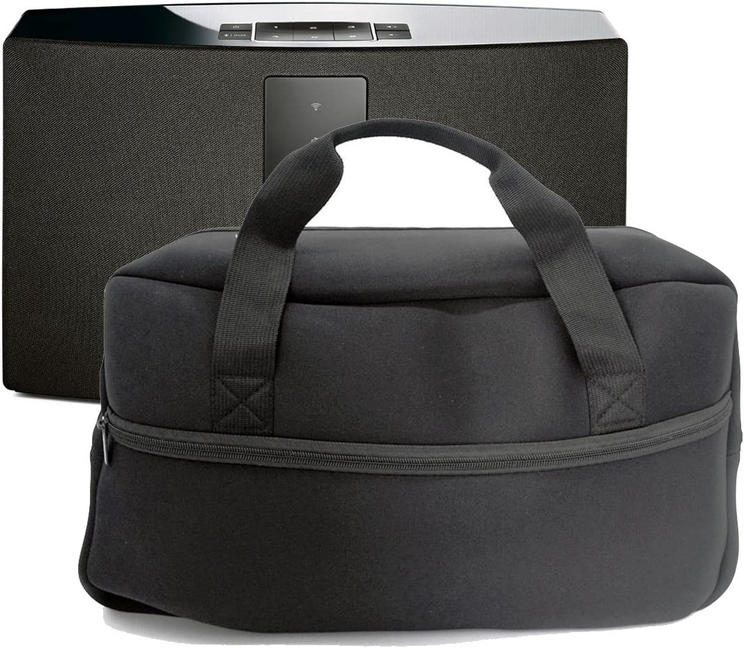 Black Orchidtent Portable Travel Storage Carrying Case Cover Skin Pouch Bags for Bose SoundTouch 30 Series III Wireless Music System with Handle Straps and Adapter Power Pocke