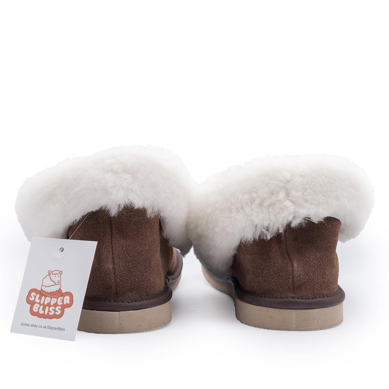Slipper Bliss Zapatillas de estar Por casa de 100% Piel Para Mujer Marrón Marrón, Color Marrón, Talla 40: Amazon.es: Zapatos y complementos
