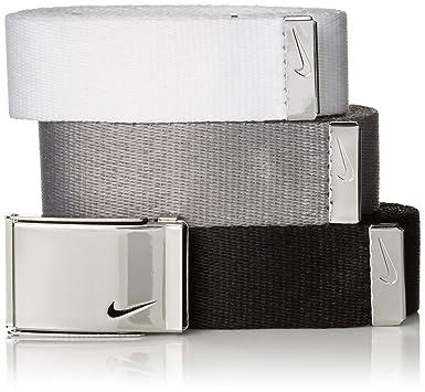61fe9494e7 Amazon.com: Nike Women's 3-in-1 Web Pack Belt, Black/White/Grey One ...