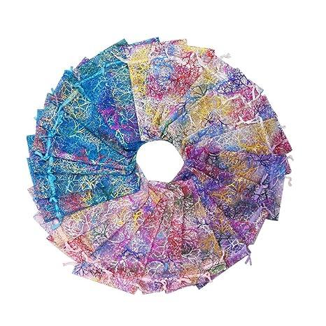 SumDirect 100Pcs 10x15cm Color mezclado Patrón Coral Bolsas ...