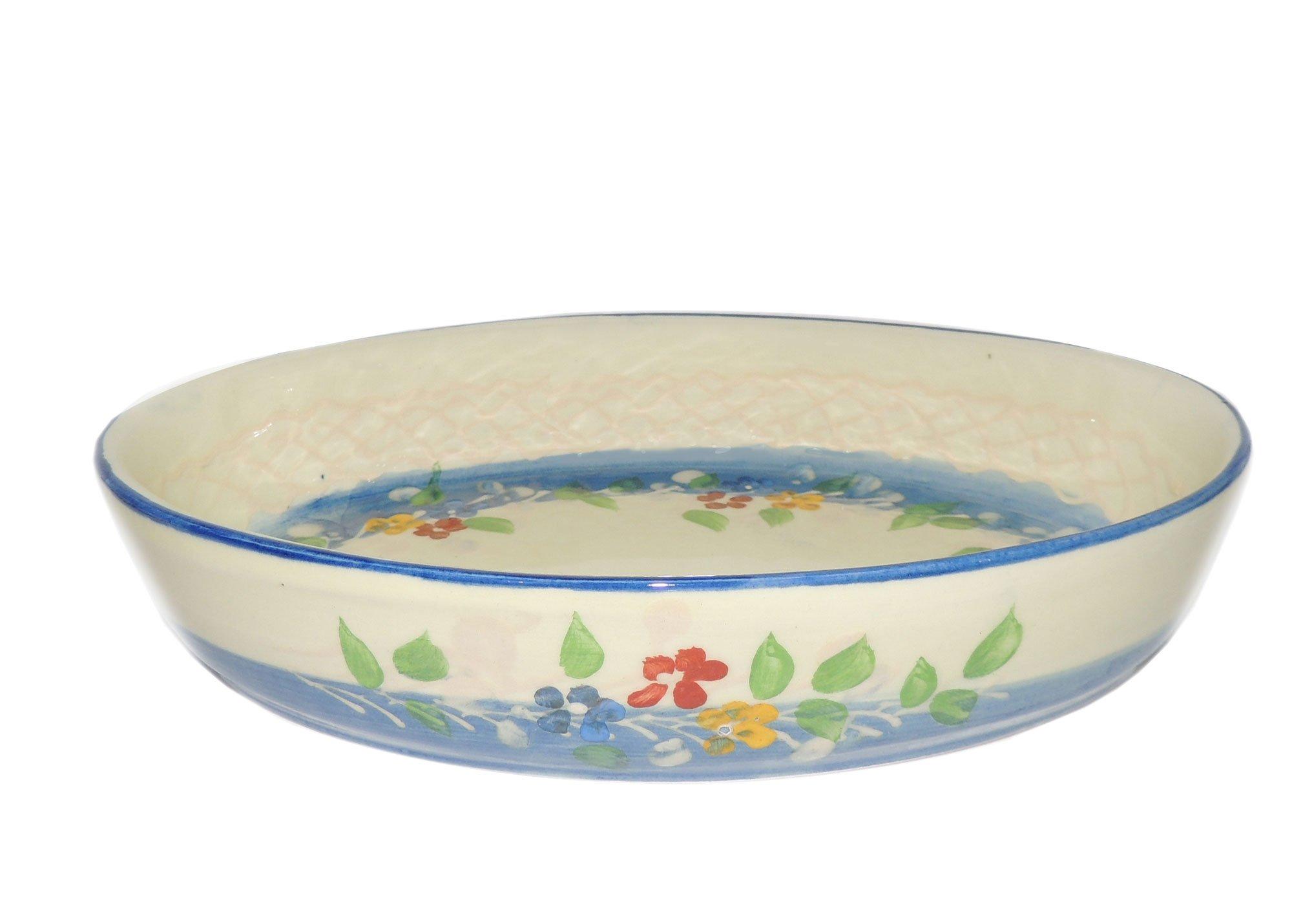 Souleo Provence Pottery - Oval Gratin Dish - Provence Blue