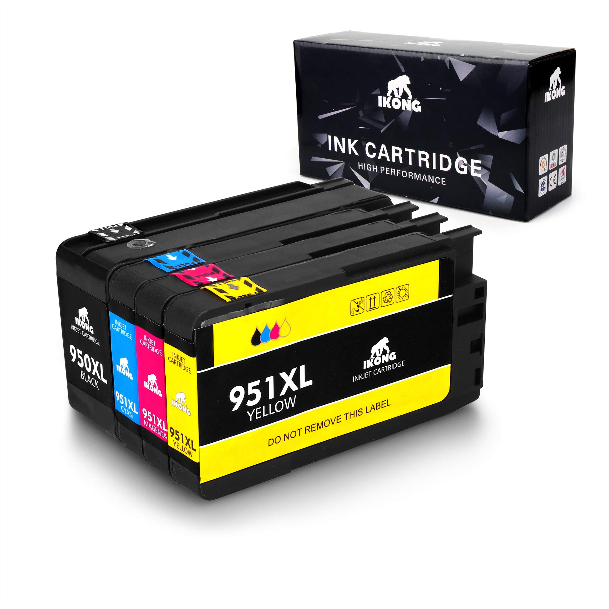IKONG 950XL 951XL New Updated Compatible for HP 950 951 Ink Cartridge Works with HP OfficeJet Pro 8600 8610 8620 8100 8630 8660 8640 8615 8625 276DW 251DW 271DW