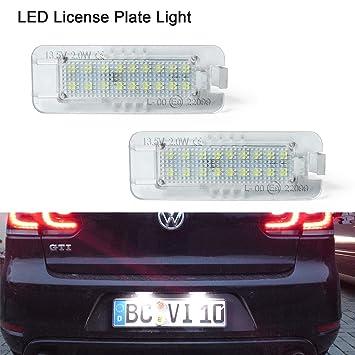 Lámpara LED de luz de la placa de la licencia, Gempro 2 Pack 18 SMD