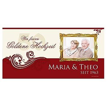 Cera Toys Goldene Hochzeit Banner Mit Foto Namen Des