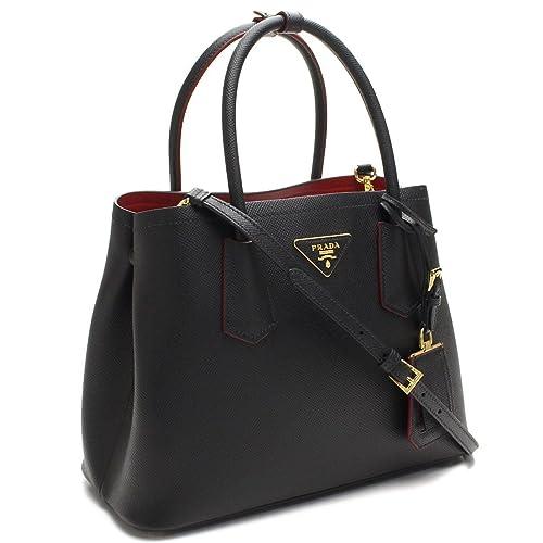 604b2ba22cc1 Prada Saffiano Nero Fuoco Tote Bag  Amazon.ca  Shoes   Handbags