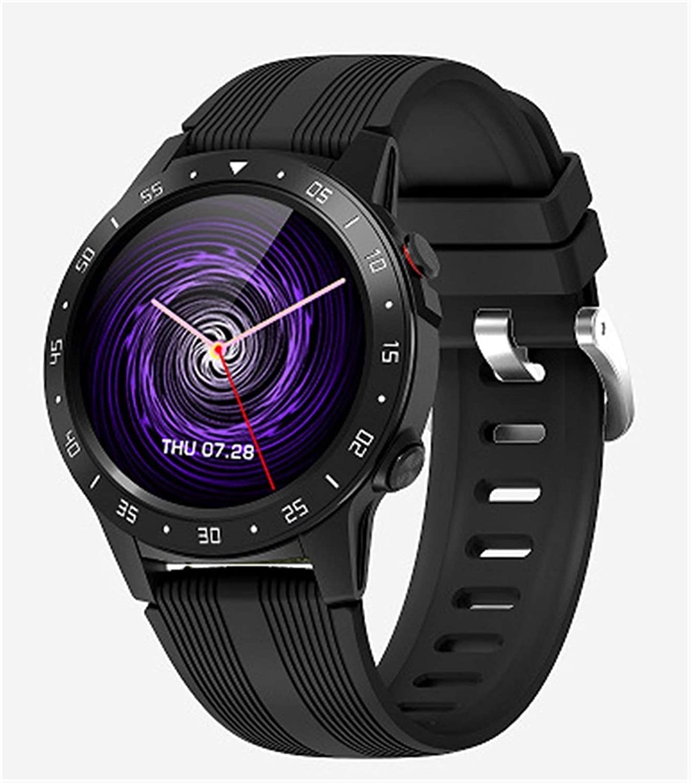 CRFYJ - Reloj inteligente con GPS, barómetro, altímetro, brújula, Bluetooth, impermeable, reloj inteligente y rastreador de fitness, iOS Android (color: negro)