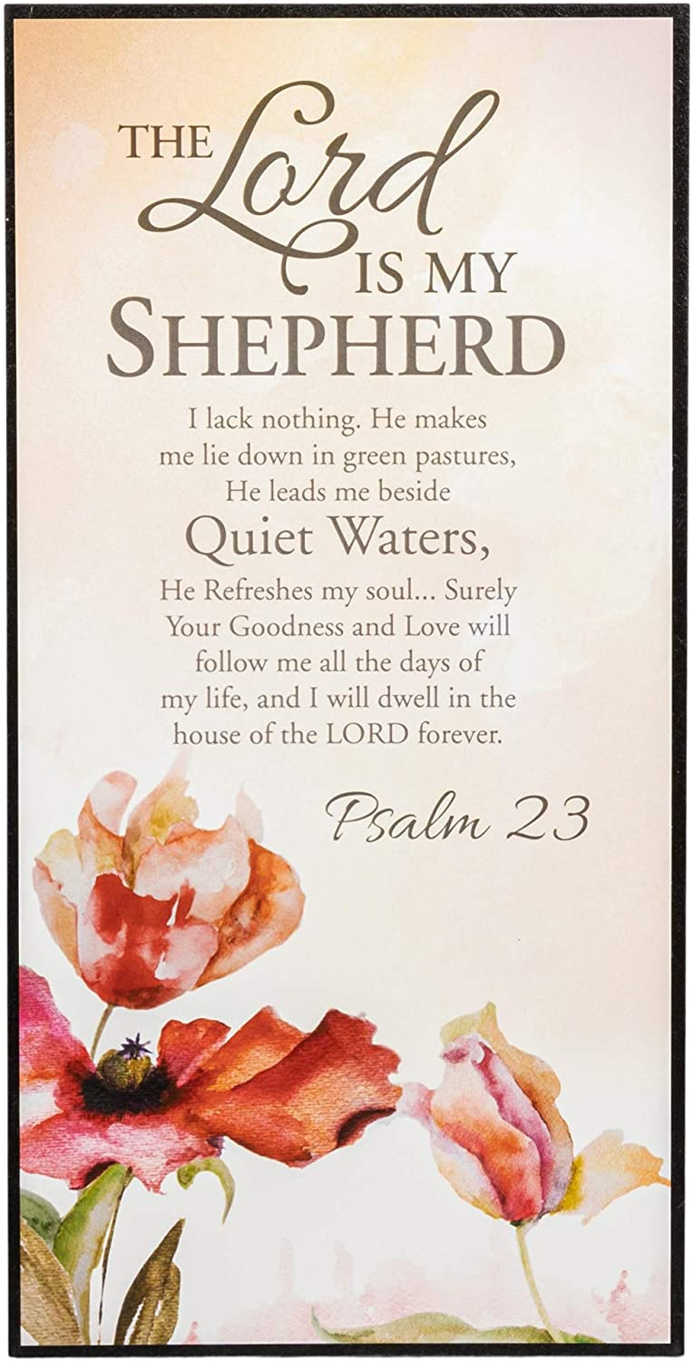 P. Graham Dunn The Lord is My Shepherd Psalm 23 Inspirational Wooden Decorative Wall Art Plaque with Easel Back