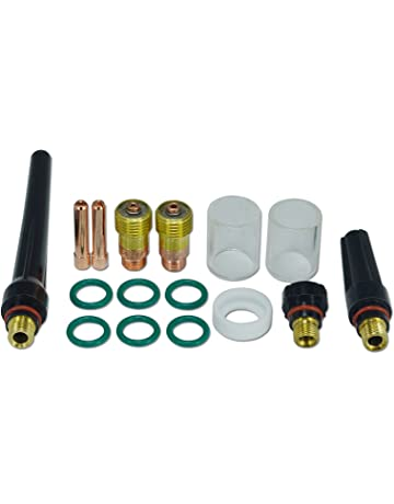 Lente de gas TIG de 1,6 mm 2,4 mm Kit de consumibles