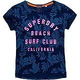 Superdry T-Shirt Women WEST COAST BF Bolivia Blue Indigo