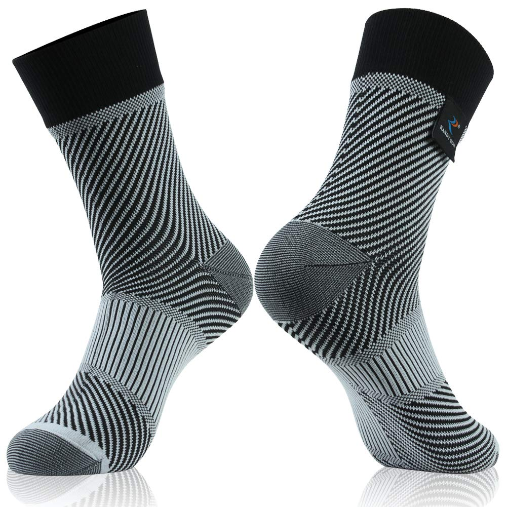 RANDY SUN 100% Waterproof Socks, for Men Women with Seamless Toe,New Weaving Technique for Better Image and Color,1 Pair-Black-Mid Calf Socks,Medium by RANDY SUN