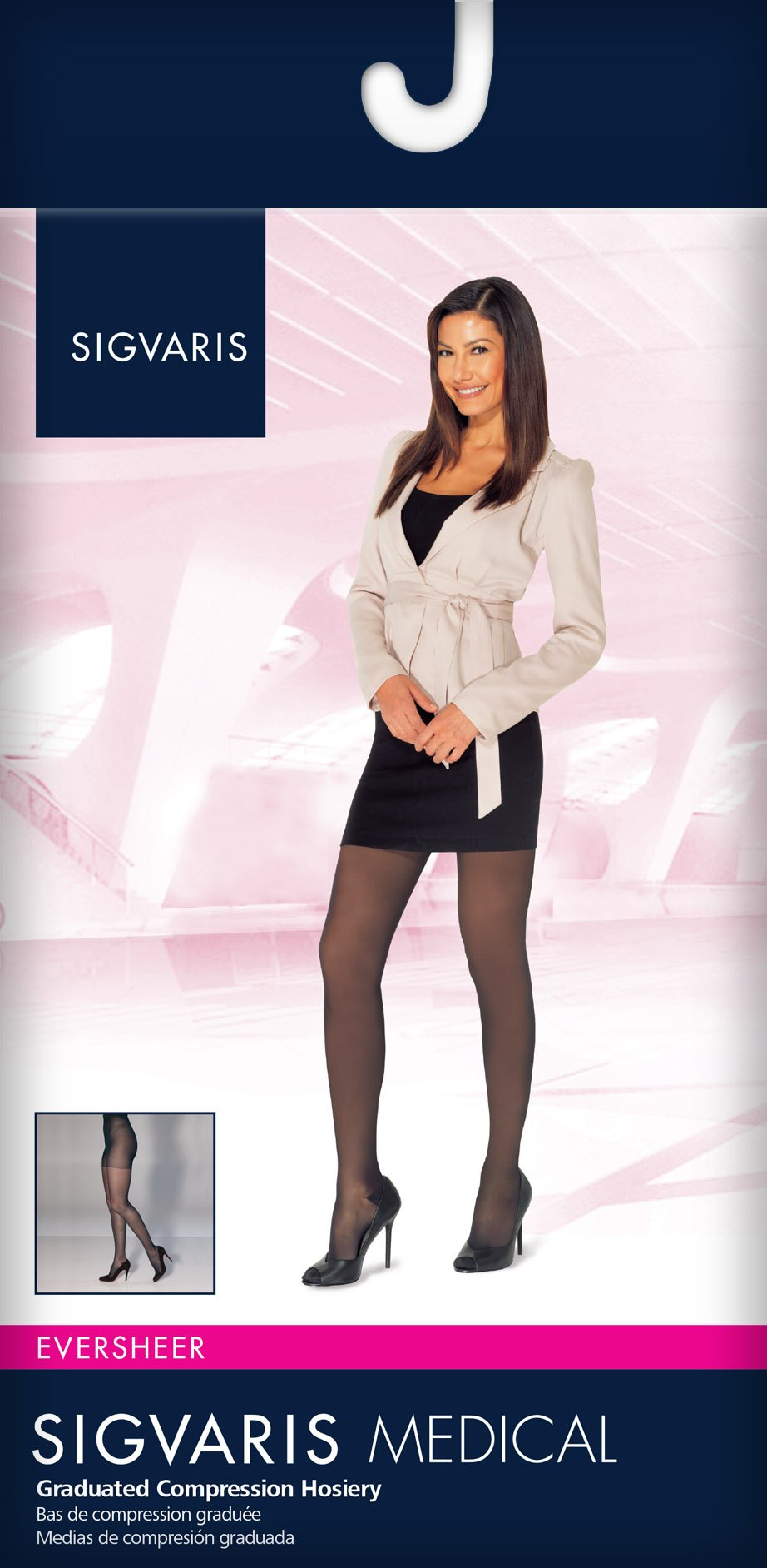 SIGVARIS Women's EVERSHEER 780 Closed Toe Compression Pantyhose 20-30mmHg by SIGVARIS (Image #2)