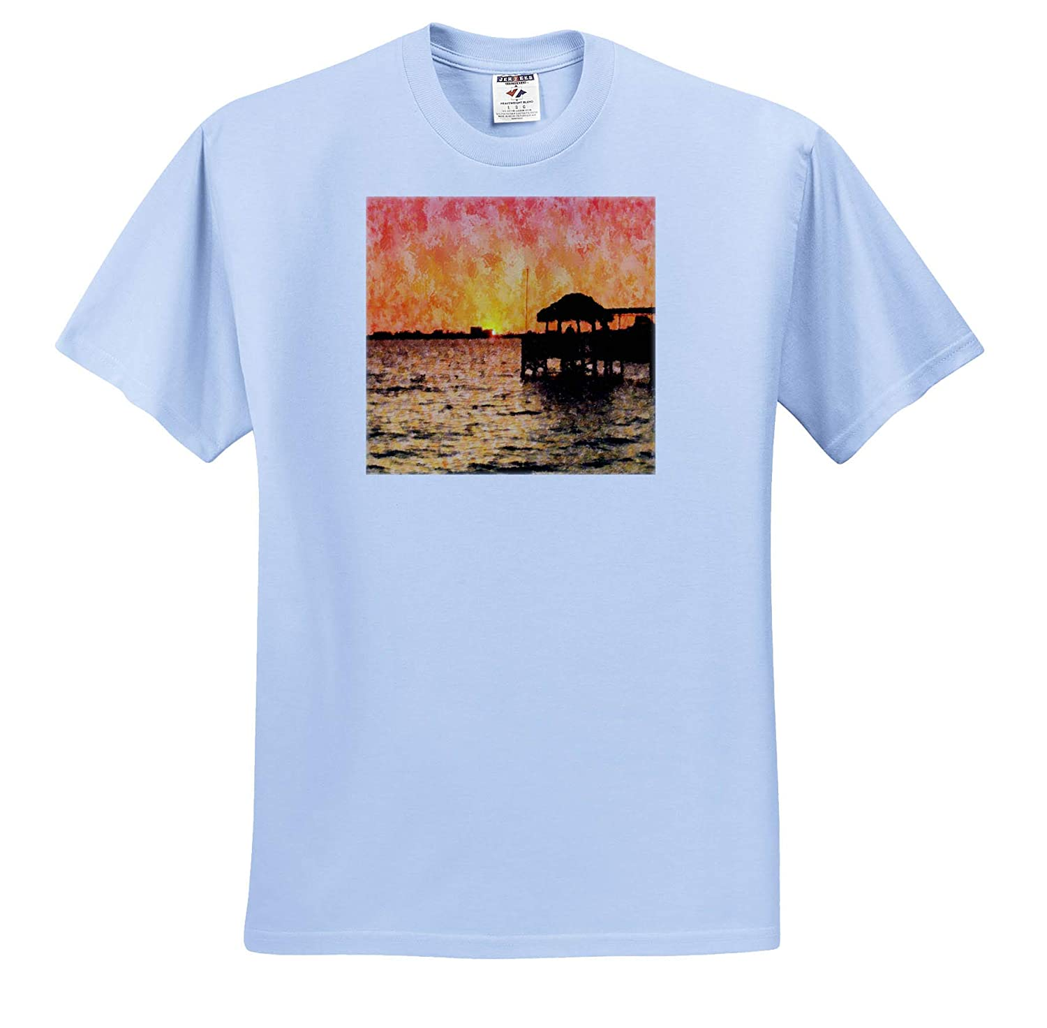 T-Shirts 3dRose Lens Art by Florene Digital Paintings Image of Neon Yellow Blue and Fuchsia Melt Abstract Painting