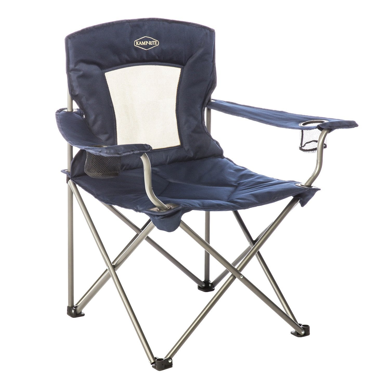 Kacx9|#Kamp-Rite Padded Chair with Mesh Back, Blue [並行輸入品] B01IRFWCEG
