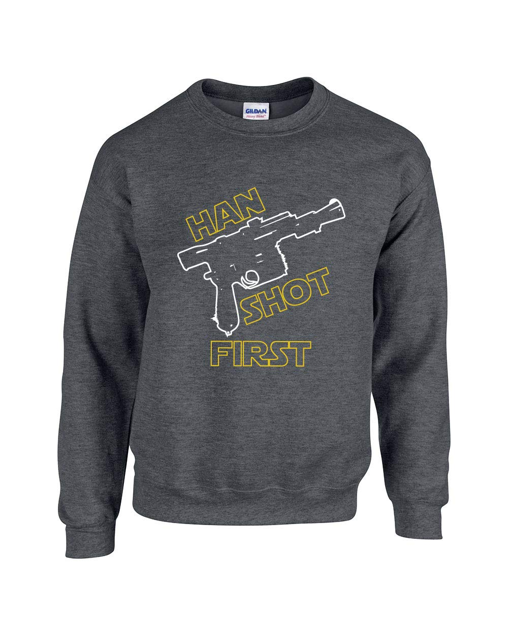 380 Han Shot First Funny Adult Crew 6498 Shirts