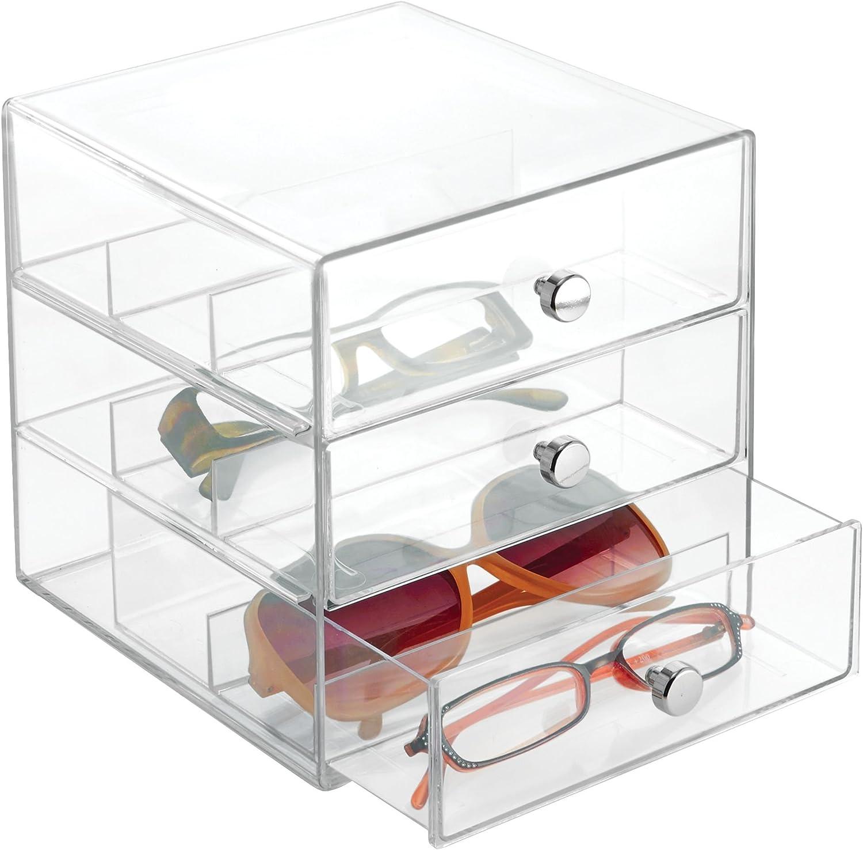 iDesign 3 Plastic Vanity, Compact Organizer