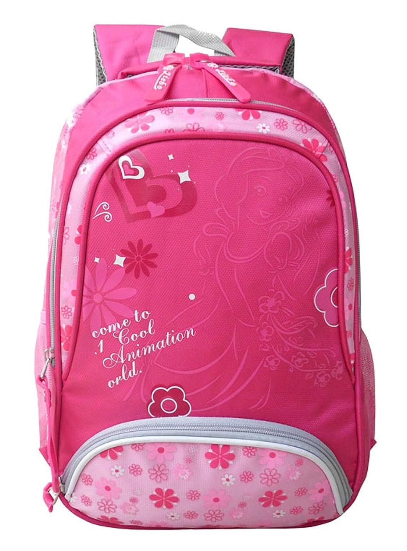 Longzibog Dacron Fashion College School Laptop Backpack -Straps Reinforced Rose Pink