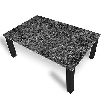 Dekoglas Couchtisch Marmor Schwarz Glastisch Beistelltisch Fur