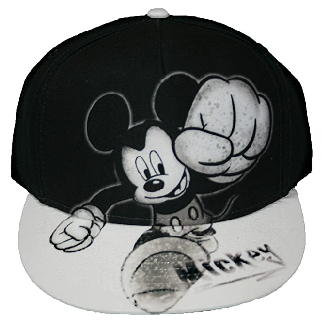 23e152eef36 Disney Mickey Mouse Smash Flat Bill Mens  Baseball Hat at Amazon ...