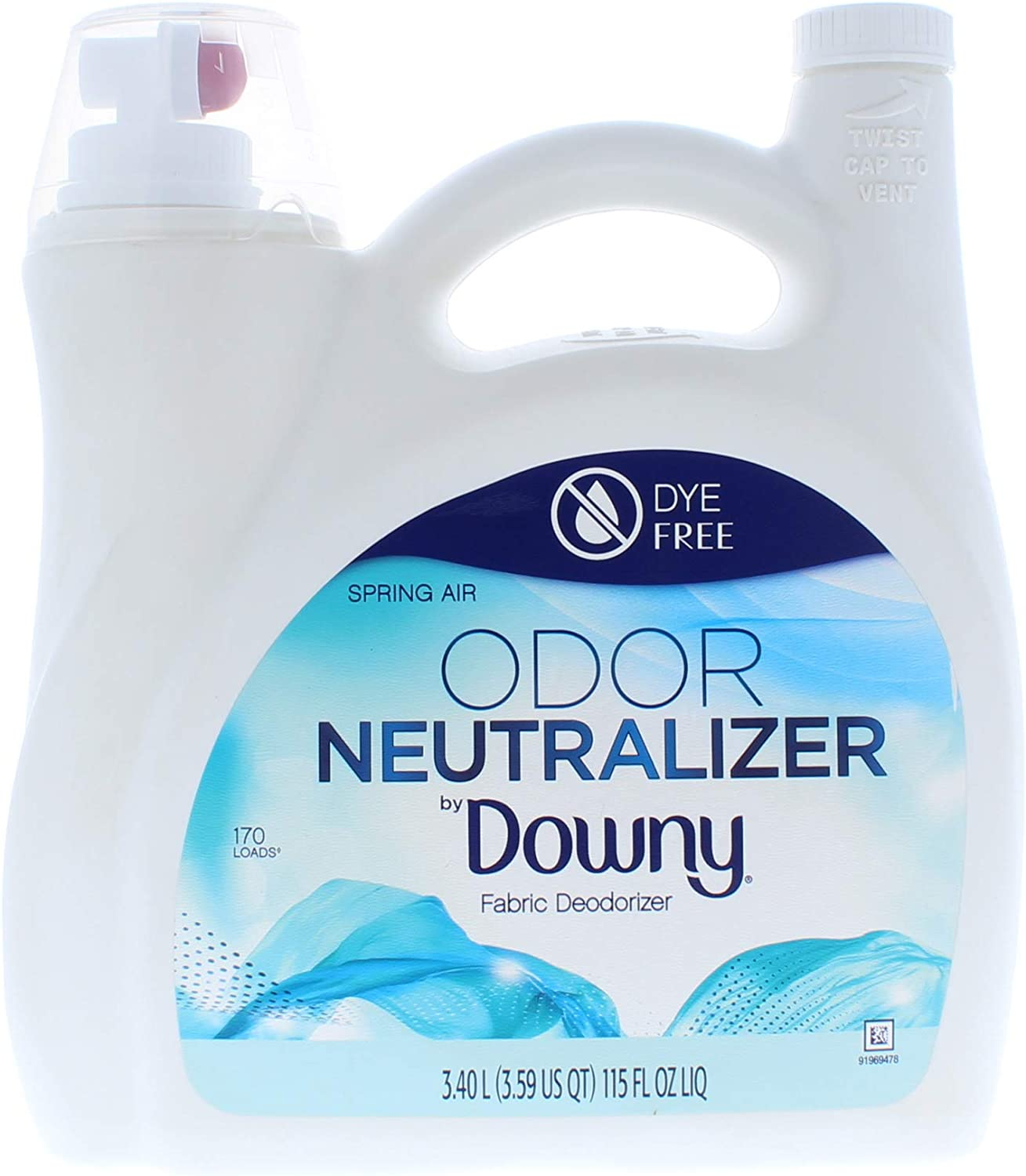 Odor Neutralizer Fabric Deoderizer Spring Air Liquid 115 Fl. Oz (170 Loads)
