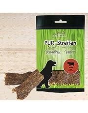 Schecker PUR Kaustreifen Rind getrocknet 100g ohne Zusätze sauber weich Hundesnack Purer Genuss in Streifen!