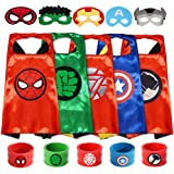 GREAMBABY Superhero Capes with Masks and Bracelets Dress up Costumes Halloween Christmas Cosplay Festival Birthday Party…