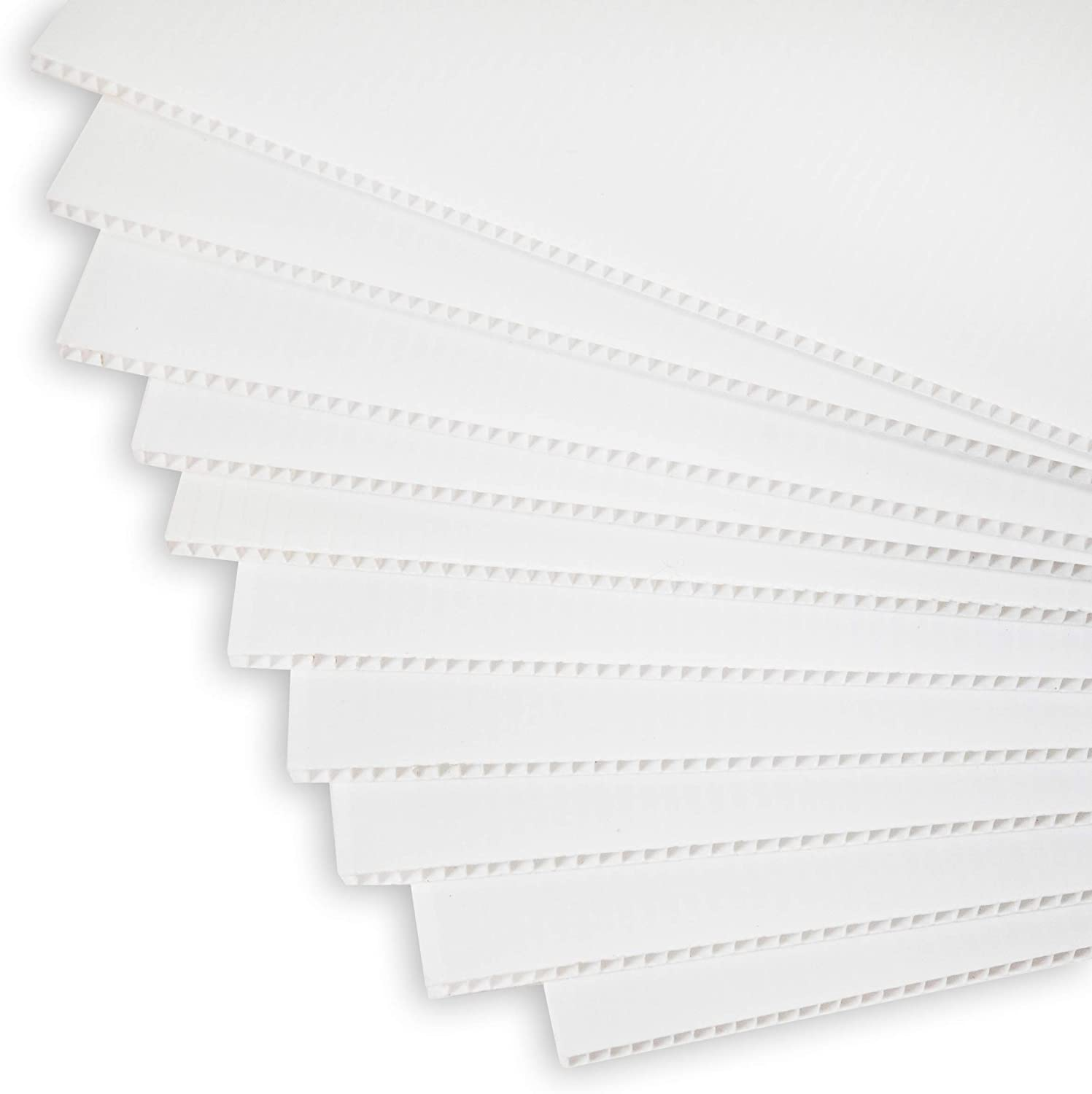 Corrugated Plastic Sheets   17in x 13in   10 Pack   Blank Coroplast Poster Board Signs for Offices, Classrooms, Yard and Garage Sales, Realtor Open Houses, and Custom Birthday, and Graduation Messages