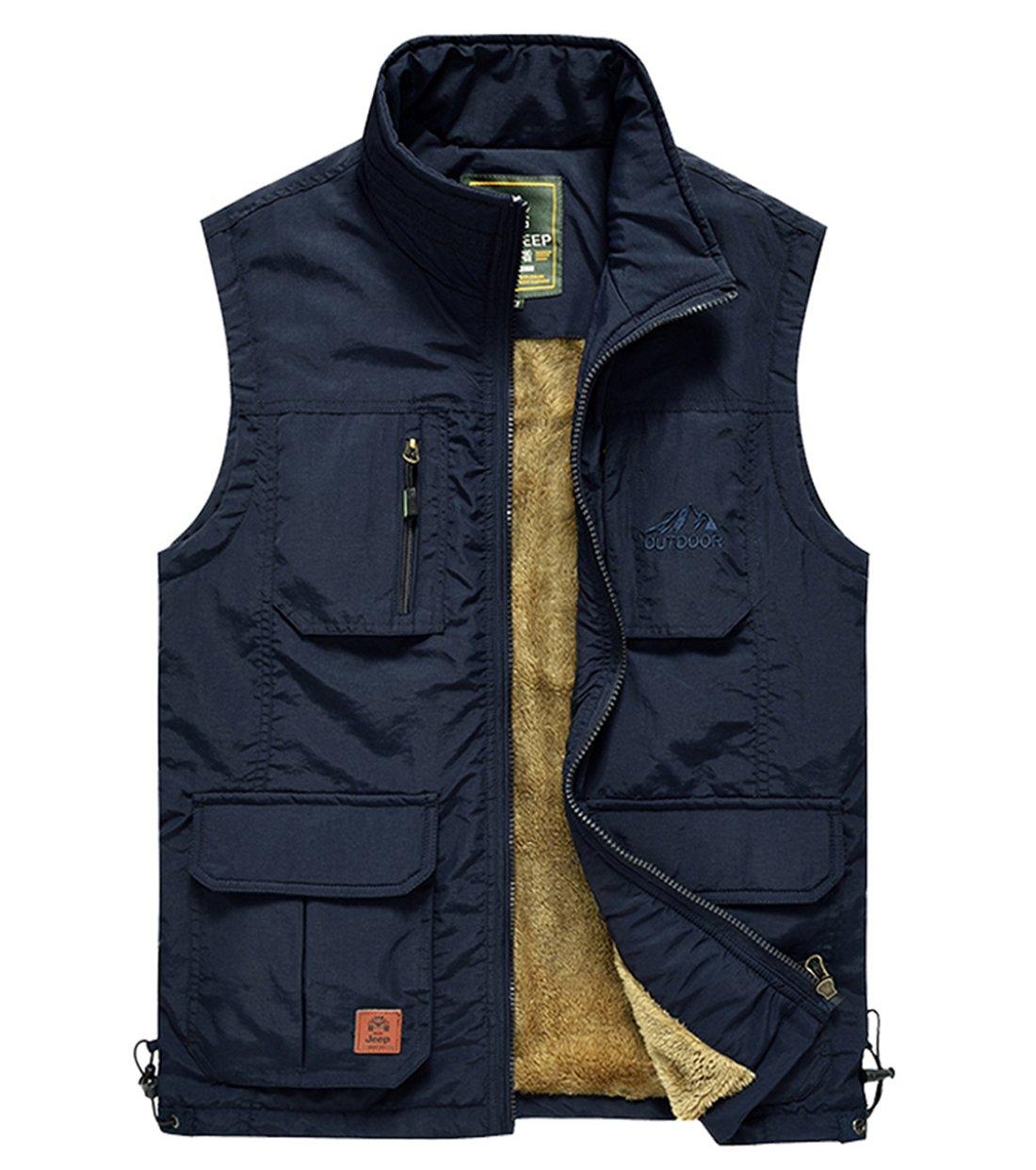 Men S Outdoor Multi Pockets Vest Jacket Outerwear Mountain
