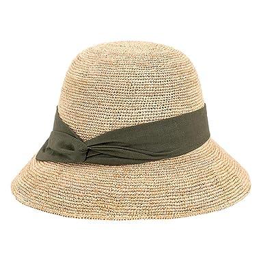 Gorra de Playa Plegable Sombrero de Paja para Playa, Verano ...