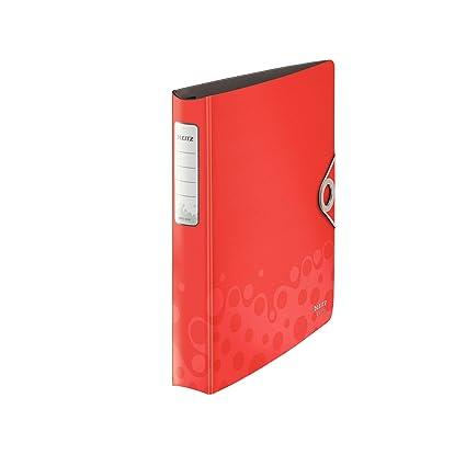 Leitz 42360045 - Archivador (A4, 4 anillas), color rojo ...