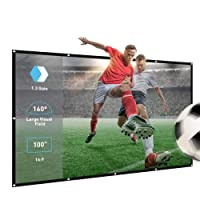Projector Screen,100inch 16:9 Portable Home Theater Projection Screen,Foldable Anti-Crease Indoor Outdoor Movie Screen Support Double Sided Projection, Polyester Fibre