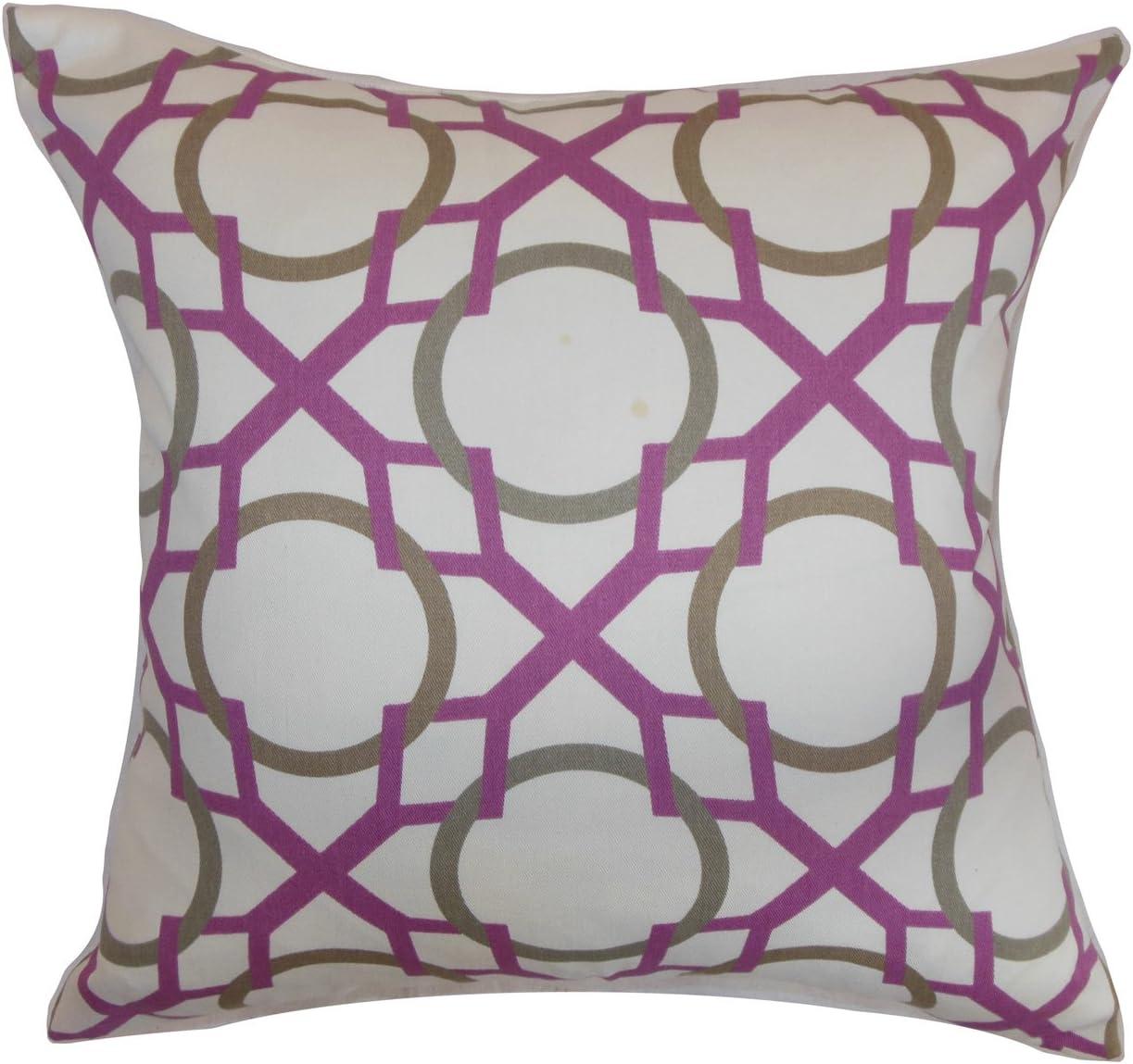 The Pillow Collection Lacbiche Geometric Pillow, Wisteria