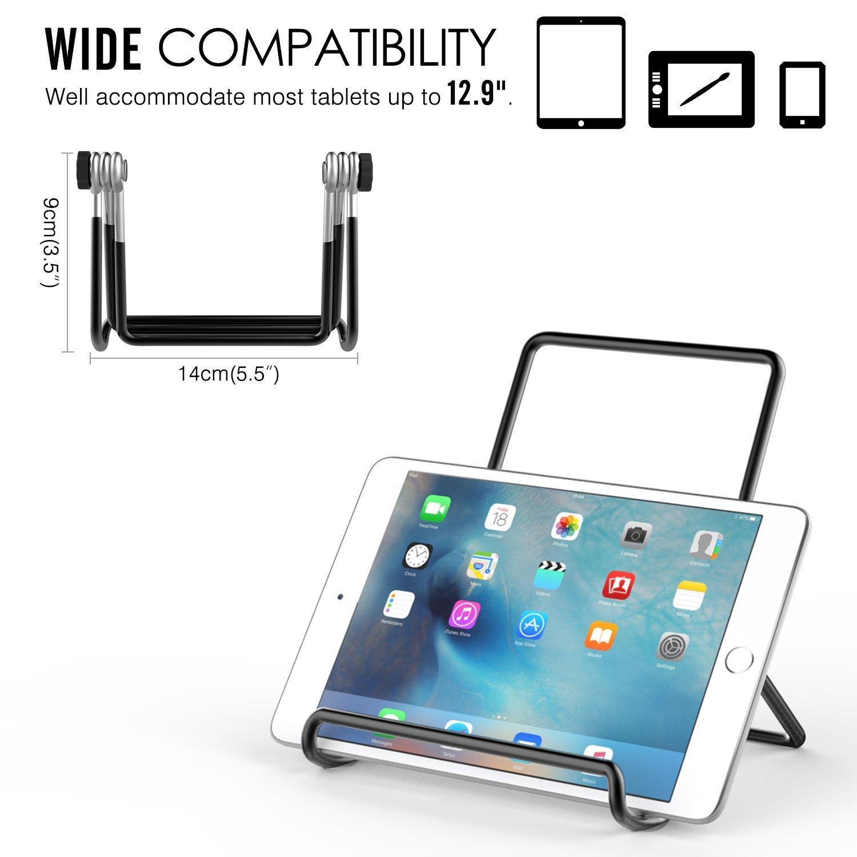 iPad Pro 12.9 Noir Air 3//2 Ajustement pour ipad Pro 11//9.7 Universel R/églable Portable en M/étal Support Cradle pour 9 Samsung Tab E 9.6 MoKo Support de Tablette Pliable 32,8 cm Tablettes PC